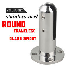 Round 2205 Stainless Steel Spigot Pool Fence Glass Mini Post Balustrade Spigots