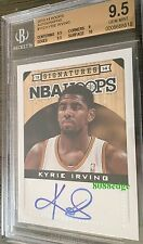2013-14 PANINI HOOPS AUTO #112: KYRIE IRVING -ON CARD AUTOGRAPH BGS 9.5 GEM MINT