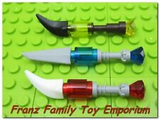 New LEGO Minifig x3 NINJA BLADES Red/Blue/Yellow GEMS Skeleton Ninjago Weapons