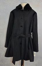 Laundry    size 3X   Button front Plus size wool blend swing coat   NWT