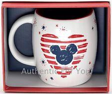 NEW Disney Parks Starbucks 4th July Mickey Heart Holiday Ceramic Coffee Mug Cup