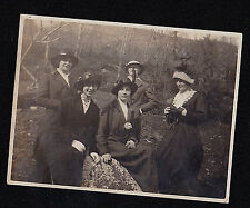 Antique Vintage Photograph Five Women in Cool Outfits in the Woods