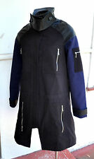KSUBI/ TSUBI Designer Anorak Jacket/ Coat Leather Detail Sz S As New NWT RRP$625
