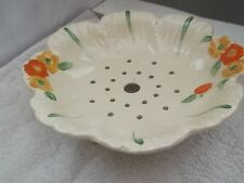 SALAD DRAINER WITH A MARIGOLD FLOWER PATTERN NO MAKER POSSIBLY ALFRED MEAKIN
