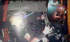 "METALLICA JAMES HETFIELD Fully personally signed 8 x 12"" Poster"