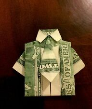 $2 DOLLAR BILL FOLDED INTO A SHIRT AND TIE (ORIGAMI GIFT FOR HIM)Good 4 Birthday