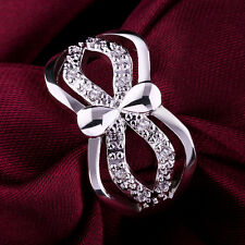 Promotion Price 925Sterling Silver Zircon Unisex Mask Ring #8 GR418