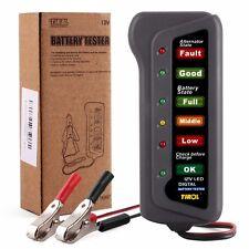 Comprobador Tester Universal 12V Bateria Alternador Coche Moto & 6 LED Indicador