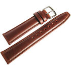 22mm Hadley-Roma MS881 Chestnut Brown Smooth Padded Leather Watch Band Strap