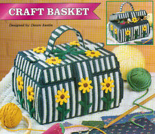 CRAFT BASKET CADDY PLASTIC CANVAS PATTERN INSTRUCTIONS
