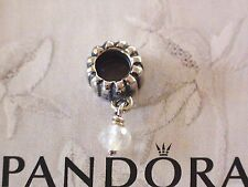 Authentic Pandora Sterling Silver Birthstone Charms 790166BK Apil - Rock Crystal