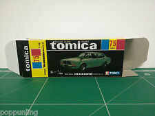 REPRODUCTION BOX for Tomica Black Box No.75 Nissan Bluebird 2000G6-EL