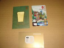 "Starbucks CHINA 2015 REWARDS VIP Card CITY series "" CHENGDU  "" w matching sleeve"