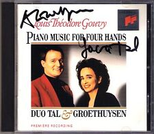 Duo vallée & Groethuysen signée Gouvy piano sonata for four hands CD morceaux