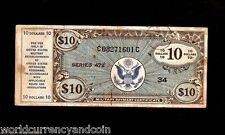 Usa United States 10 Dollars Mpc 472 Money Military Payment Certificate Usa Note
