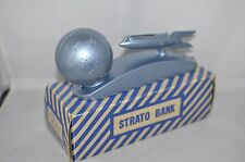 Vintage Space Age Mid Century 50's Duro Mold Strato Rocket Ship Bank