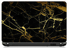 "Black & Gold Marble Laptop Skin 15.6"" - High Quality 3M Vinyl"