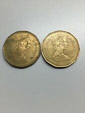 THE NICKEL STORE:  Lot Of Two Canadian $1 Dollar Coins