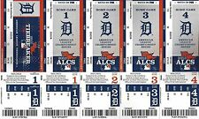 2013 ALCS FULL UNUSED BASEBALL TICKETS SHEET - BOSTON RED SOX @ DETROIT TIGERS