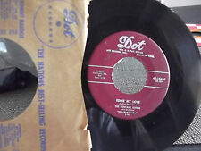 THE FONTAINE SISTERS 45 DOT RECORDS W/ORG. PAPER SLEEVE EDDIE MY LOVE / YUM YUM