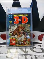 ADVENTURES IN 3-D #1 (1953) CBCS 8.5 Includes 2 Pairs of 3-D Glasses Harvey