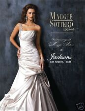 MAGGIE SOTTERO FIORELLA NEW 6 ALABASTER SATIN JEWELED ONE SHOULDER WEDDING DRESS