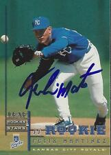 Felix Martinez Kansas City Royals 1998 Leaf Rookies and Stars Signed Card