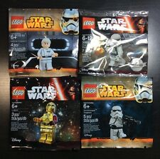 LEGO Star Wars Minifigure LOT 4 Sealed C3po Yularen First order Stormtrooper