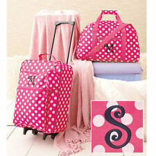 The Letter S Kids Luggage Sets For Girls Rolling Suitcase Duffel Bag Set Pink