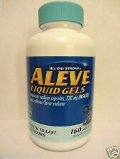 ALEVE LIQUID GELS Naproxen Sodium 220mg, 160 Liquid Gels *Pain & Fever Reducer*