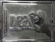 "Valentine's Day Plaque ""Dear Heart""  Chocolate Plastic Candy Soap Mold AO-807"
