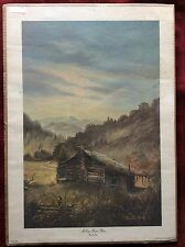 """Vintage 1977 Print """"McCoy Home Place"""" Hatfield and McCoy Feud by Russell May"""