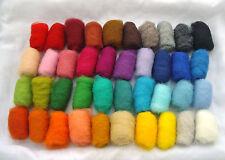 4.2 ounces /120 gr 40 colors of Sheep Wool Fiber for Needle Felting