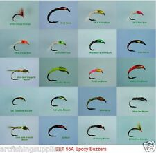 20 EPOXY BUZZERS Trout Fly Fishing Flies  55A