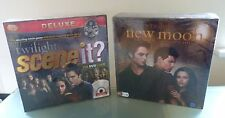 Twilight Scene It Deluxe & Movie Board Game Bundle New Sealed Christmas Gift