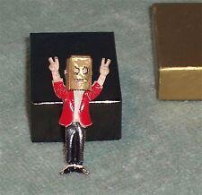 Vintage Metal Richard Nixon Pin Flip Up Paper Bag Pin