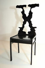 X-FILES face on chair for Dolls 1:6 furniture FR Integrity wooden handwork NEW