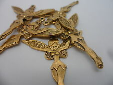 20 Large Fairy~Sprite Charms Pendants,Antique Gold Tone~Bulk Buy crafting hobby
