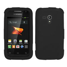 For Samsung Galaxy Rush Rubber SILICONE Skin Soft Gel Case Phone Cover Black