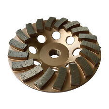 "4.5"" Concrete Grinding Cup Wheels 18 Diamond Abrasive Turbo Seg 5/8""-11 Arbor"
