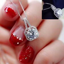 Fashion Girl Jewelry Crystal Pendant Chain Chunky Statement Choker Necklace Gift