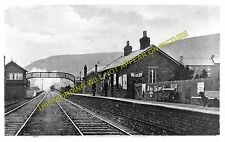 Pontlottyn Railway Station Photo. Tir Phil & New Tredegar - Rhymney