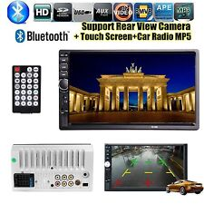7''Car Radio Stereo MP5/USB/TF/AUX/AV IN/Remote Bluetooth 12V 2 DIN Touch Screen