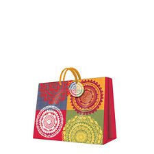 Printed Paper Gift Present Bag ETHNIC THEME Pattern Small Horizontal / D