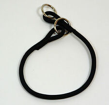 "NEW Black Nylon Round Braided Dog Choke Collar 14"" Small"