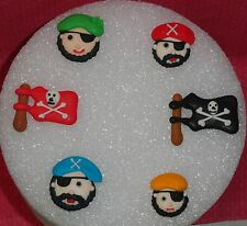 Pirate Edible Royal Icing Cupcake Toppers, DecoPac, Multi-Color,Decoration