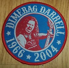 Darrell Dimebag - Tribute PATCH Pantera Slayer Anthrax Metallica Sepultura
