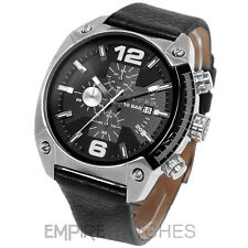 * nouveau * Diesel Homme Chronographe de débordement Black Watch-dz4341-rrp £ 145.00