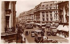 LONDON UK OXFORD CIRCUS~BUSES~CARS~REAL PHOTO POSTCARD 1920s