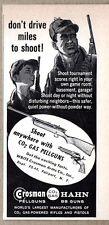 1960 Print Ad Crosman Pell Guns Hahn BB Guns Fairport,NY